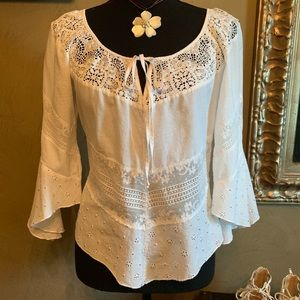 Top with lace inserts by Compliance Alliance 1995